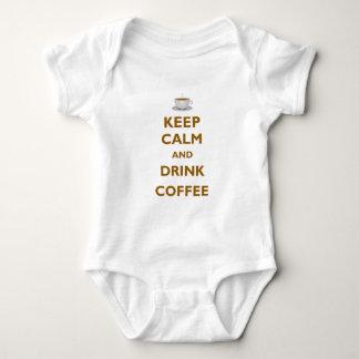 穏やかなおよび飲み物のコーヒー保って下さい ベビーボディスーツ