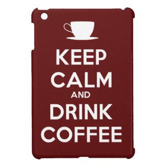 穏やかなおよび飲み物のコーヒー保って下さい iPad MINI カバー