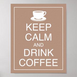 穏やかなおよび飲み物のコーヒー芸術ポスタープリント保って下さい ポスター