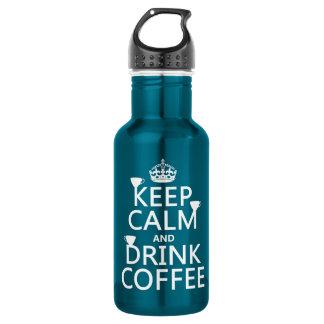 穏やかなおよび飲み物のコーヒー-すべての色保って下さい ウォーターボトル