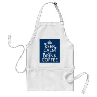 穏やかなおよび飲み物のコーヒー-すべての色保って下さい スタンダードエプロン