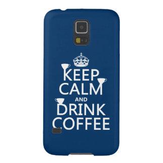 穏やかなおよび飲み物のコーヒー-すべての色保って下さい GALAXY S5 ケース