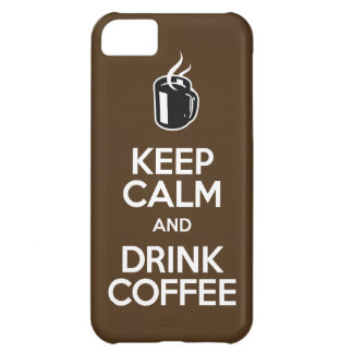 穏やかなおよび飲み物のコーヒー- iPhone 5の場合保って下さい iPhone5Cケース