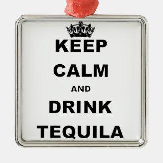 穏やかなおよび飲み物のテキーラ保って下さい メタルオーナメント