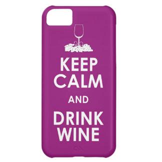 穏やかなおよび飲み物のブドウ酒用ブドウアルコール会合のdri保って下さい iPhone5Cケース