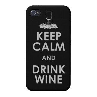 穏やかなおよび飲み物のブドウ酒用ブドウアルコール会合のdri保って下さい iPhone 4/4S ケース