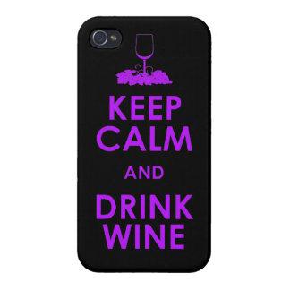 穏やかなおよび飲み物のブドウ酒用ブドウアルコール会合のdri保って下さい iPhone 4 case