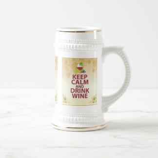 穏やかなおよび飲み物のワインのギフトのユニークな芸術のデザイン保って下さい ビールジョッキ