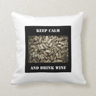 穏やかなおよび飲み物のワイン保って下さい クッション