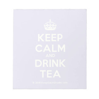 穏やかなおよび飲み物の茶保って下さい ノートパッド