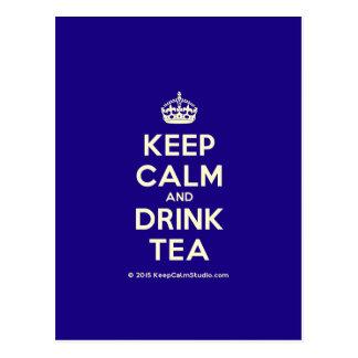 穏やかなおよび飲み物の茶保って下さい ポストカード