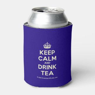 穏やかなおよび飲み物の茶保って下さい 缶クーラー