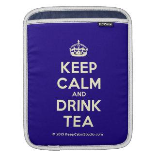 穏やかなおよび飲み物の茶保って下さい iPadスリーブ