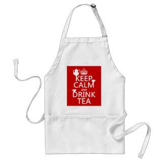 穏やかなおよび飲み物の茶-すべての色保って下さい スタンダードエプロン