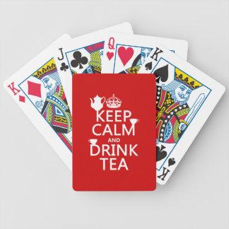 穏やかなおよび飲み物の茶-すべての色保って下さい バイスクルトランプ