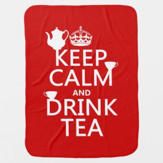穏やかなおよび飲み物の茶-すべての色保って下さい ベビー ブランケット