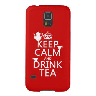穏やかなおよび飲み物の茶-すべての色保って下さい GALAXY S5 ケース