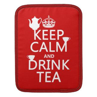 穏やかなおよび飲み物の茶-すべての色保って下さい iPadスリーブ