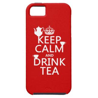 穏やかなおよび飲み物の茶-すべての色保って下さい iPhone SE/5/5s ケース