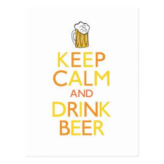 穏やかなおよび飲み物ビール保って下さい ポストカード