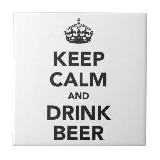 穏やかなおよび飲み物ビール句保って下さい タイル