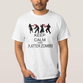 穏やかなおよび(ばちゃばちゃ)跳ねるのゾンビ保って下さい Tシャツ