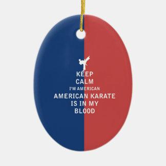 穏やかなアメリカの空手をあります私の血に保って下さい セラミックオーナメント