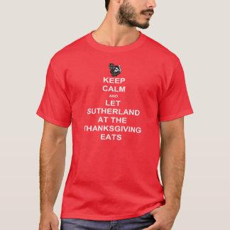 穏やかなサザランドの感謝祭のワイシャツを保って下さい Tシャツ