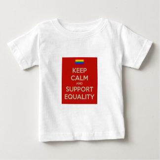 穏やかなサポート平等を保って下さい ベビーTシャツ
