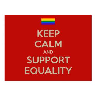 穏やかなサポート平等を保って下さい ポストカード