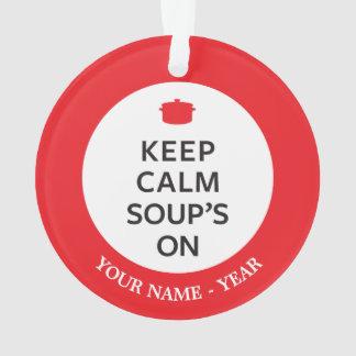 穏やかなスープを保存して下さい オーナメント