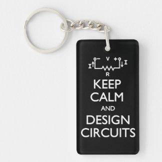 穏やかなデザイン回路を保って下さい キーホルダー