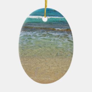 穏やかなビーチ水 セラミックオーナメント