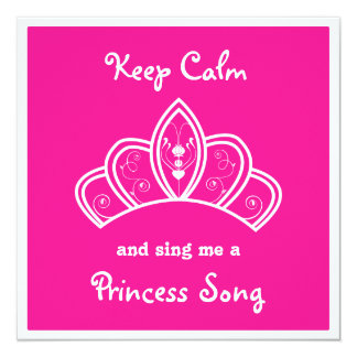 穏やかなピンクのプリンセスの歌のカラオケのパーティーを保って下さい カード