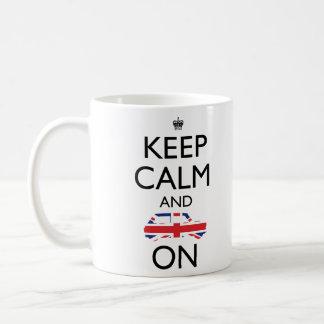 穏やかなマグを保って下さい コーヒーマグカップ