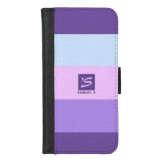 穏やかなラベンダーによってはカラーパレットのモノグラムが夢を見ます iPhone 8/7 ウォレットケース