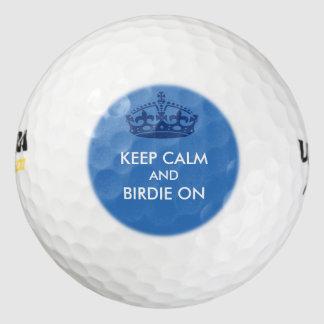穏やかなロゴを保って下さい ゴルフボール