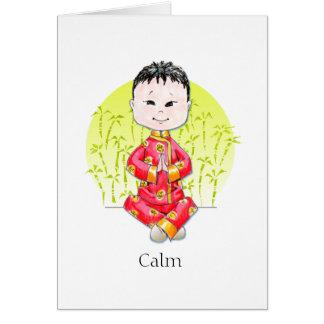 穏やかな中国の男の子のメッセージカード カード