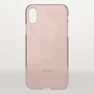 穏やかな千年のローズピンク iPhone X ケース