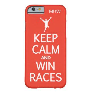穏やかな及び勝利競争カスタムなモノグラム及び色保って下さい BARELY THERE iPhone 6 ケース