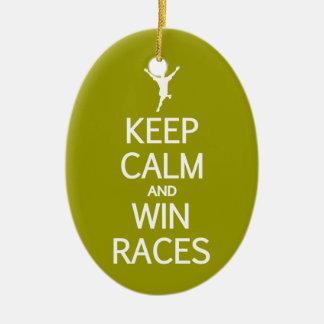 穏やかな及び勝利競争カスタムな色のオーナメント保って下さい セラミックオーナメント