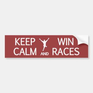 穏やかな及び勝利競争カスタムな色のバンパーステッカー保って下さい バンパーステッカー