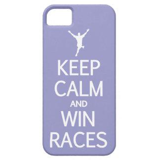 穏やかな及び勝利競争カスタムな色のiPhoneの場合保って下さい iPhone SE/5/5s ケース