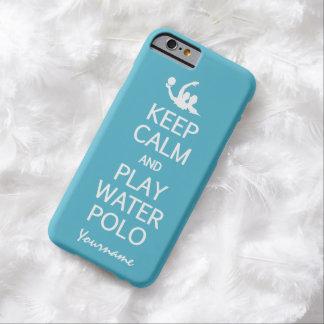 穏やかな及び演劇の水球カスタムな色のケース保って下さい BARELY THERE iPhone 6 ケース