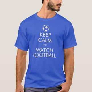 穏やかな及び腕時計のフットボール保って下さい Tシャツ