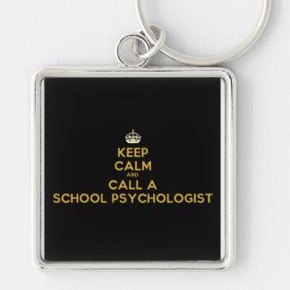 穏やかな呼出し学校の心理学者のキーホルダーを保って下さい キーホルダー