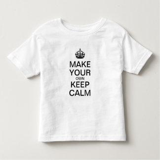 穏やかな子供のワイシャツ(テンプレート)を保たせますあなた専有物に トドラーTシャツ
