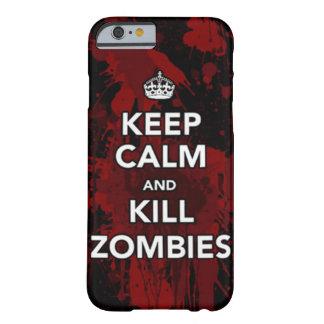穏やかな殺害のゾンビの電話箱を保って下さい BARELY THERE iPhone 6 ケース