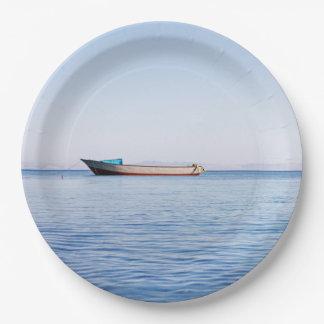 穏やかな海 ペーパープレート