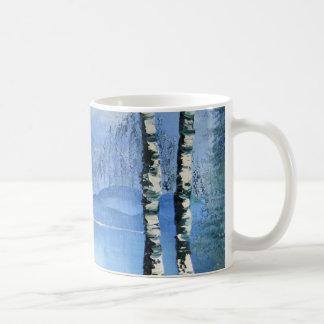穏やかな湖のマグ コーヒーマグカップ